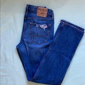 HOLLISTER&co men's distressed slim straight jeans